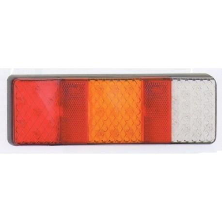 Feu arriére rectangle à LEDS 4 fonctions 4238