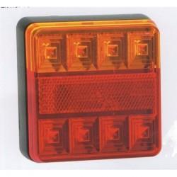Feu arriére carré à LEDS 3 fonctions 4229
