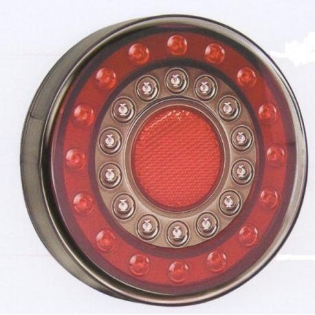 Feu arriére rond à LEDS 3 fonctions 4243