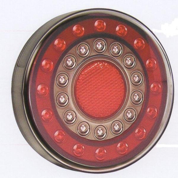 Rond LED Feu de Freinage Feu 4x4rouge ambre LED rond feux arri/ère indicateur lampe de signal de frein sadapte /à un camion de voiture