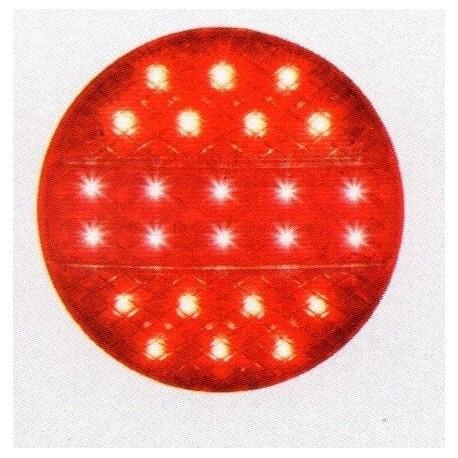 Feu arriére rond à LEDS 3 fonctions 5157