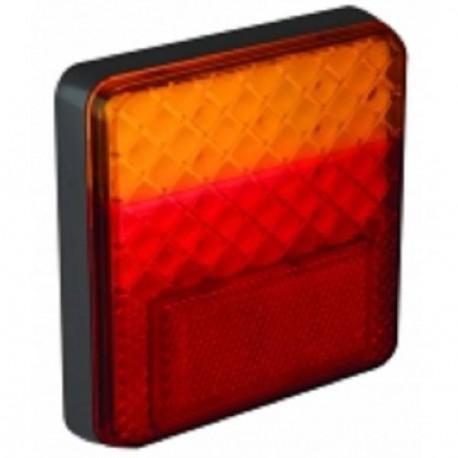 Feu arriére carré à LEDS 3 fonctions 7429