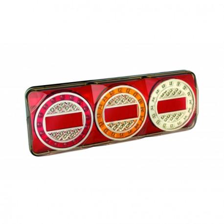 Feu arrière rectangulaire à LEDS 7402