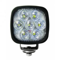Feu de travail carré cristal 7 LEDS 5350